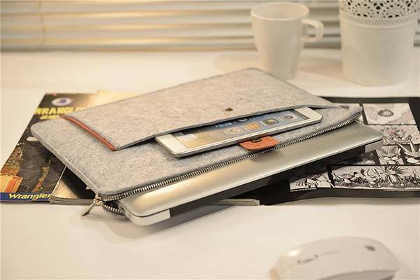 Handmade Zipper Felt MacBook Case