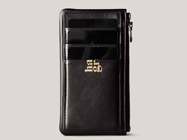 Hard Graft Zip Cards Leather Wallet