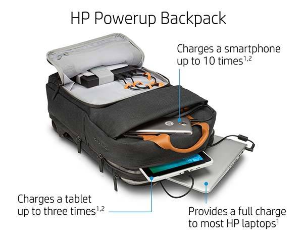 HP Powerup Backpack with 22400mAh Power Bank