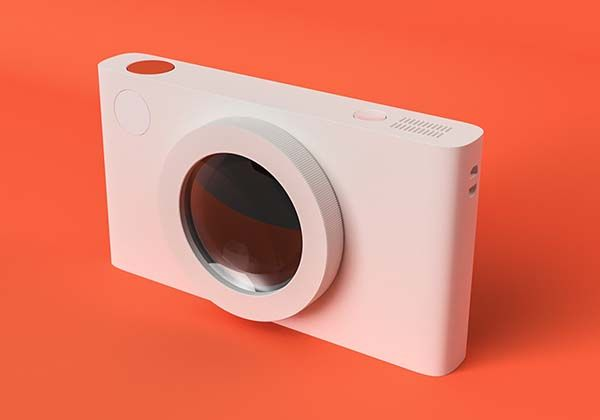 Less One Concept Minimalistic Compact Camera