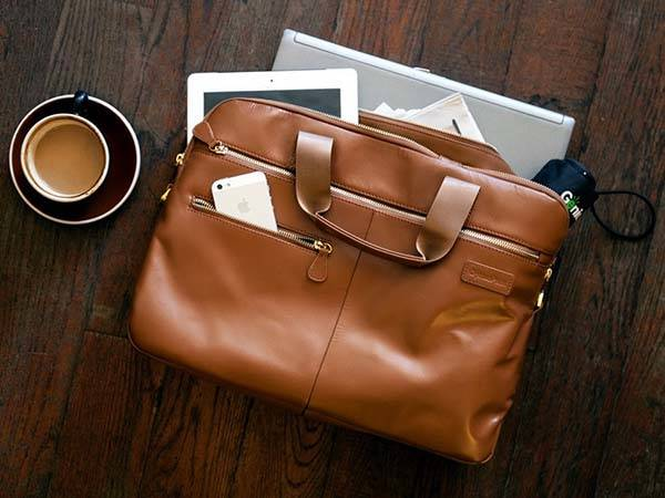 Luxe Entrepreneur Leather Briefcase