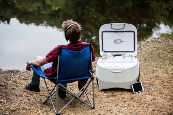 Nipi Cooler with Solar Charger and All-Terrain Wheels