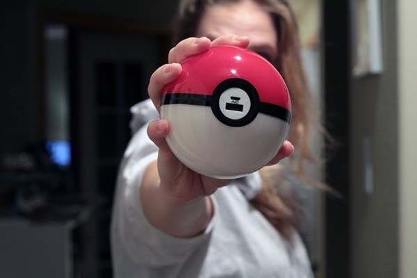 Handmade Pokemon GO Pokeball Power Bank