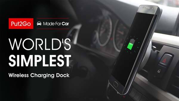 Put2Go Car Vent Mount with Wireless Charger