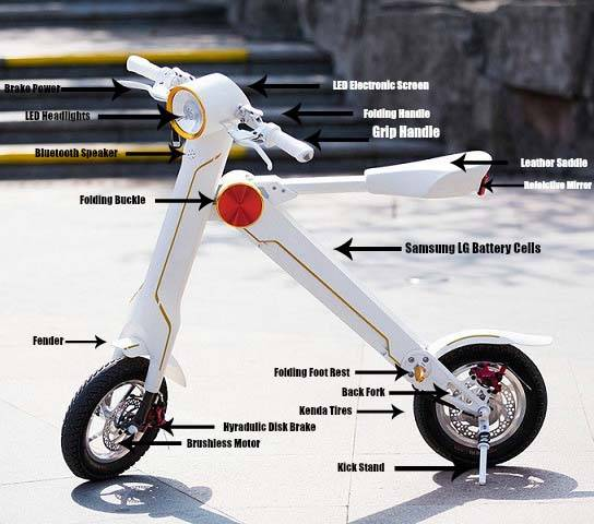ScootMatic eScooter Styled Electric Bike