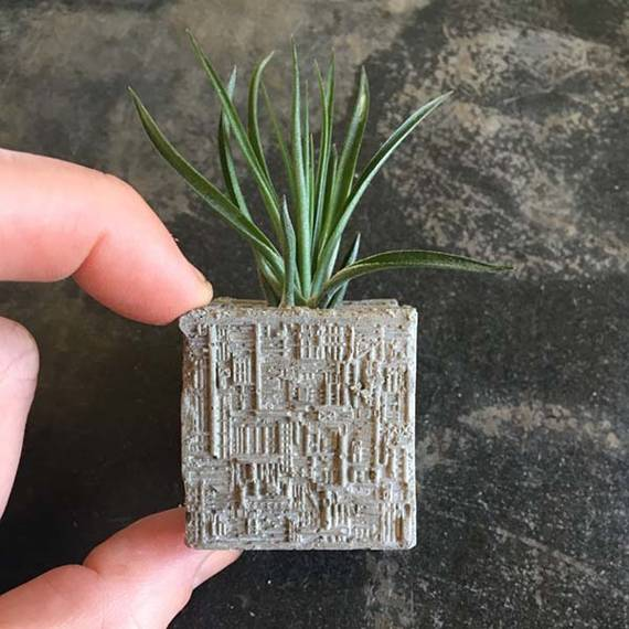 Star Trek Borg Cube Concrete Air Plant Holder