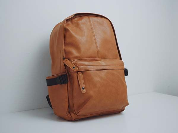 The Affordable Leather Backpack in Brown/ Black