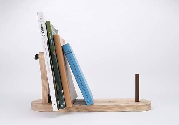 The Wooden Desk Organizer with Removable Slingshot