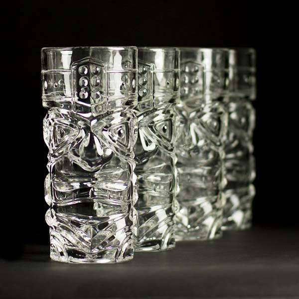 Tiki Glass Set Adds Kitsch 50 S Hawaiian Chic Into Your