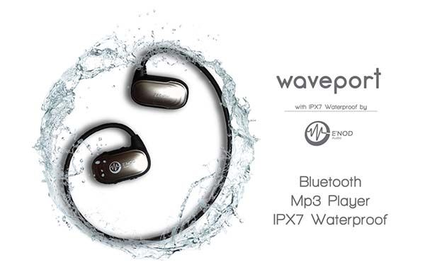 Waveport Waterproof Bluetooth Headphones with Music Player