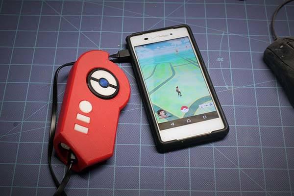 3D Printed Pokemon GO Pokedex Power Bank Gadgetsin