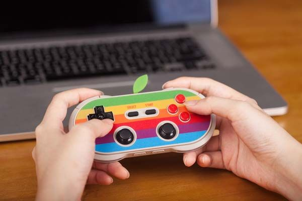 8bitdo AP40 Classic Apple Logo Inspired Bluetooth Game Controller