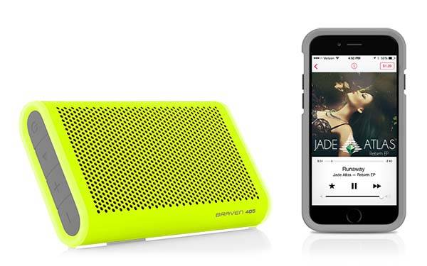 BRAVEN 405 Portable Waterproof Bluetooth Speaker with Power Bank