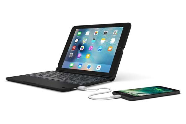 ClamCase + Power 9.7-Inch iPad Pro Keyboard Case with Power Bank