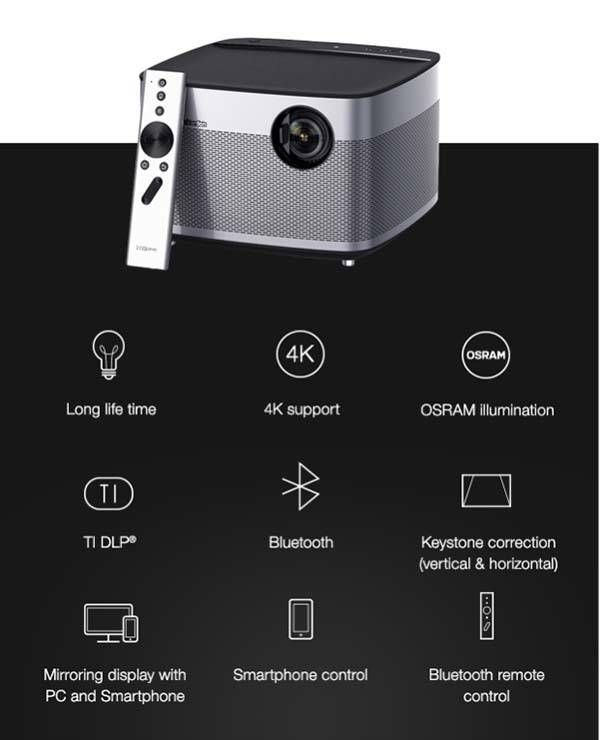 H1 Smart Projector with Hartman Kardon Bluetooth Speaker