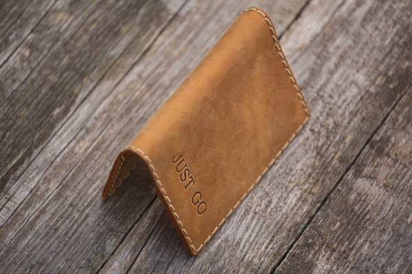 Handmade Leather Passport Wallet with Personalized Options