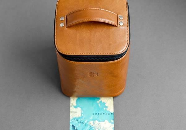Handmade Leather Toiletry Bag