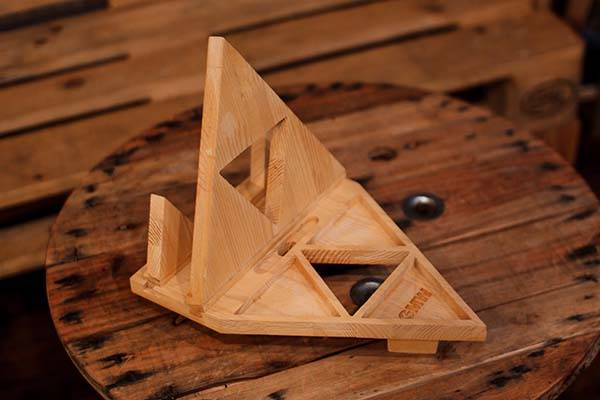 Handmade Zelda Triforce Desk Organizer
