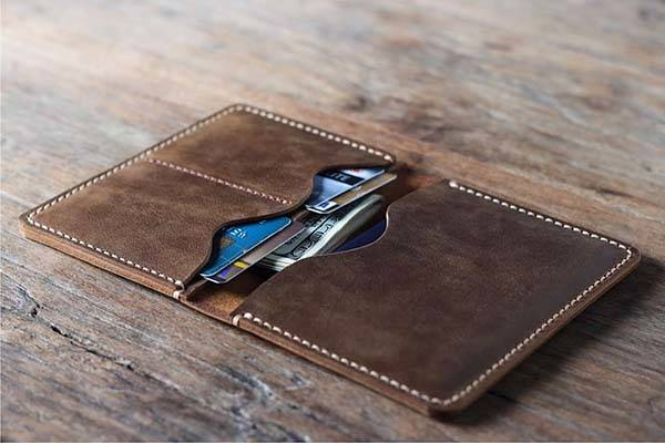Handmade Customizable Leather Passport Wallet