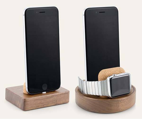 Material Dock Wooden Charging Station for iPhone and Apple Watch