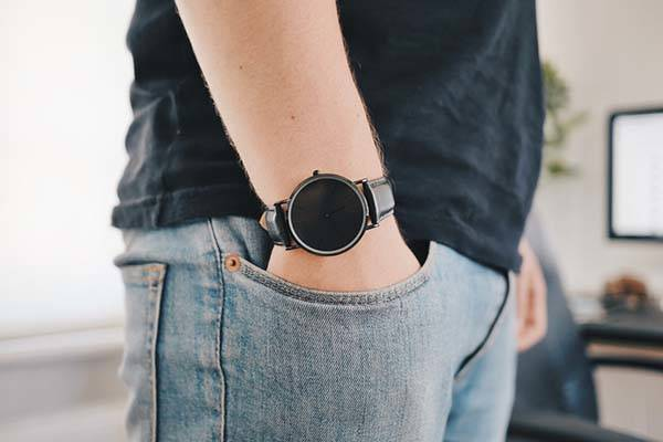 Raven All Black Analog Watch