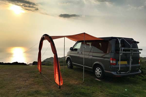 sheltaPod Campervan Awning Acts as Camping Tent