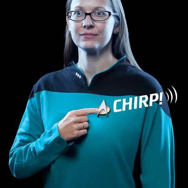 Star Trek TNG Bluetooth Communicator Badge