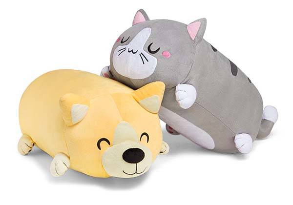 The Adorable Corgi and Kitty Roll Pillows