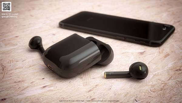 The AirPods in Black Jet