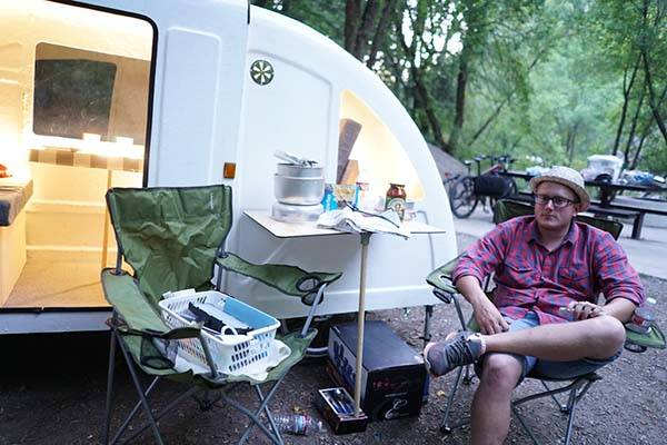 Wide Path Camper Camping Trailer for Bikes