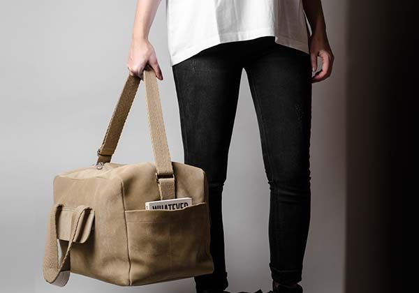 Hard Graft Volume One Monotone Holdall Leather Bag