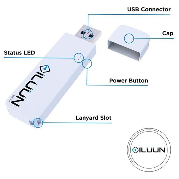 iLuun Air Wireless USB Flash Drive Works with iOS, Android ...