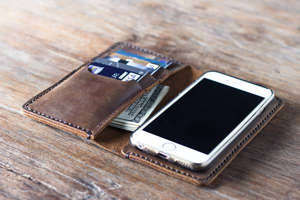JooJoobs Handmade Leather Wallet iPhone 7/7 Plus Case