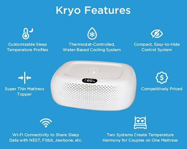 Kryo App-Enabled Water-Based Cooling Mattress Topper