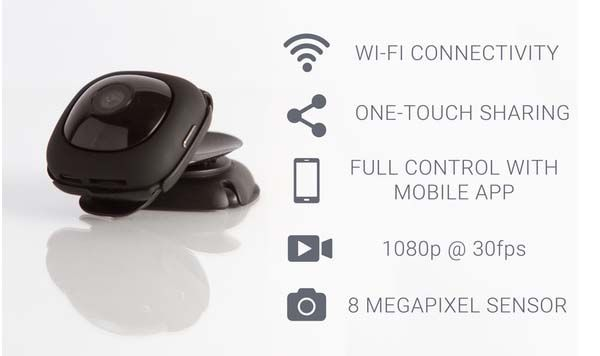 MeCam NEO App-Enabled Wearable Video Camera
