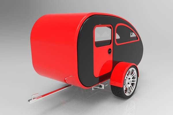 Mini Caravan Expandable Teardrop Camping Trailer