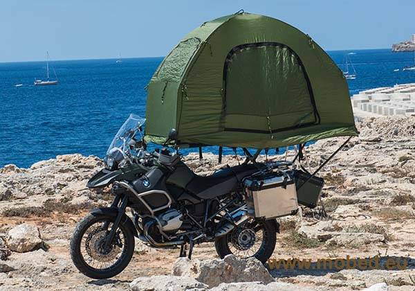 Mobed Compact Motorcycle Tent & Mobed Compact Tent Fits on Your Motorcycle | Gadgetsin