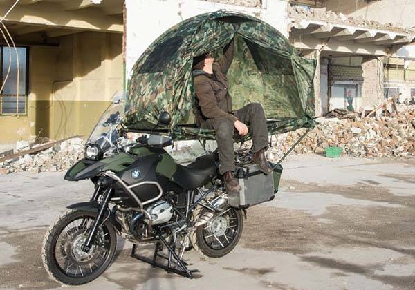 Mobed Compact Motorcycle Tent ... & Mobed Compact Tent Fits on Your Motorcycle | Gadgetsin