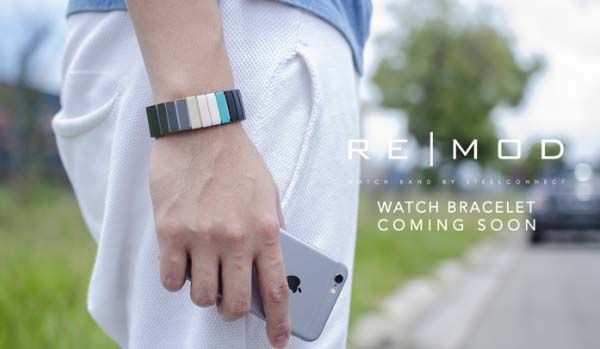 Remod Modular Watch Band Fits for Apple Watch, Pebble and More Smartwatches