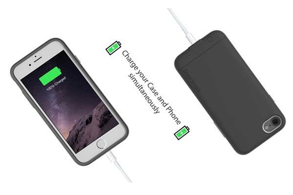 Smartkase iPhone 7 Battery Case with Dual SIM and microSD Card Slot