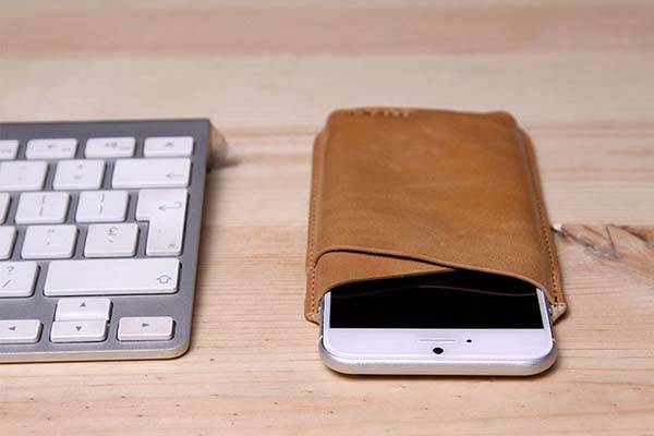 Handmade Leather iPhone 7 Sleeve