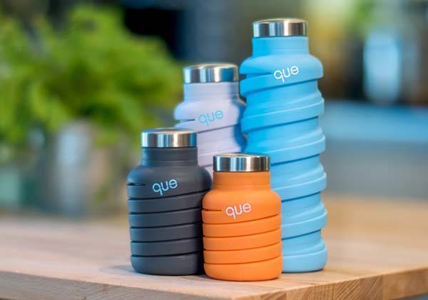 The Que Fashionable And Collapsible Water Bottle Gadgetsin