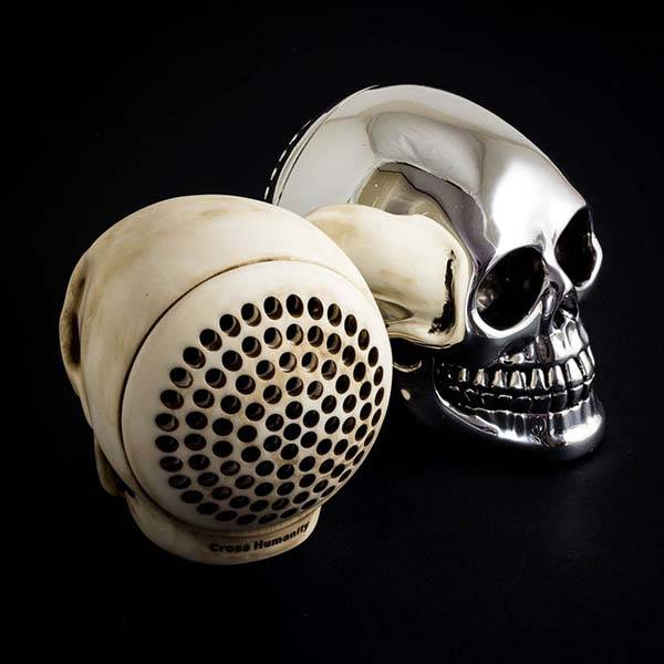 The Skull Shaped Portable Bluetooth Speaker