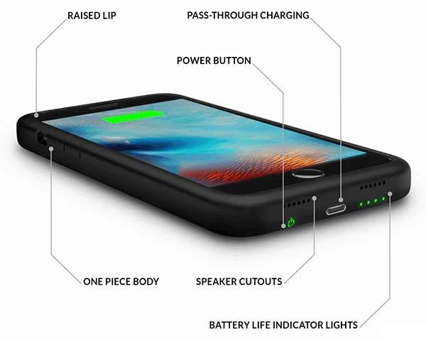 ThinCharge One-Piece Slim iPhone 7 Battery Case