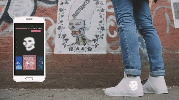 Vixole Matrix App-Enabled Sneakers with Flexible LED Displays