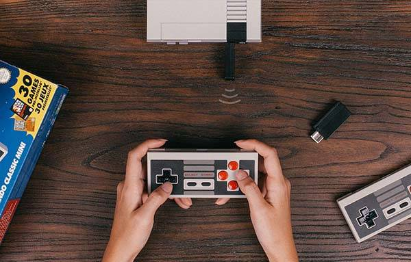 8Bitdo Retro Receiver with Wireless Controller for NES Classic Edition