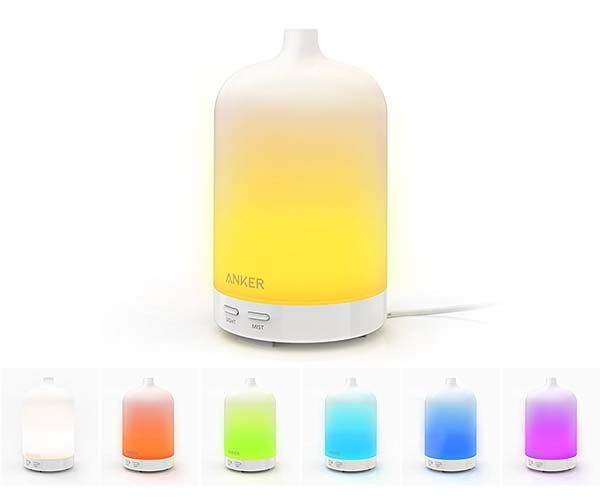 Anker 100ml Ultrasonic Humidifier with Oil Diffuser and Mood Light