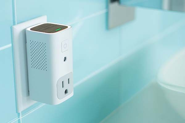Awair Glow App-Enabled Air Quality Monitor with Smart Outlet