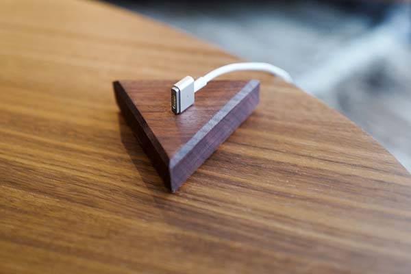 Handmade Wooden Desktop Cable Organizer