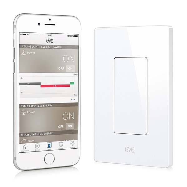 Elgato Eve Apple HomeKit Enabled Smart Light Switch